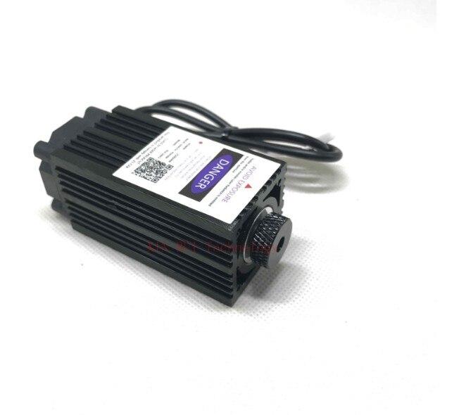 2500 МВт 450NM фокусировки синий фиолетовый лазерный модуль гравировка, 2,5 Вт лазерной трубки Диод hx2.54 2 P порт + защитный googles
