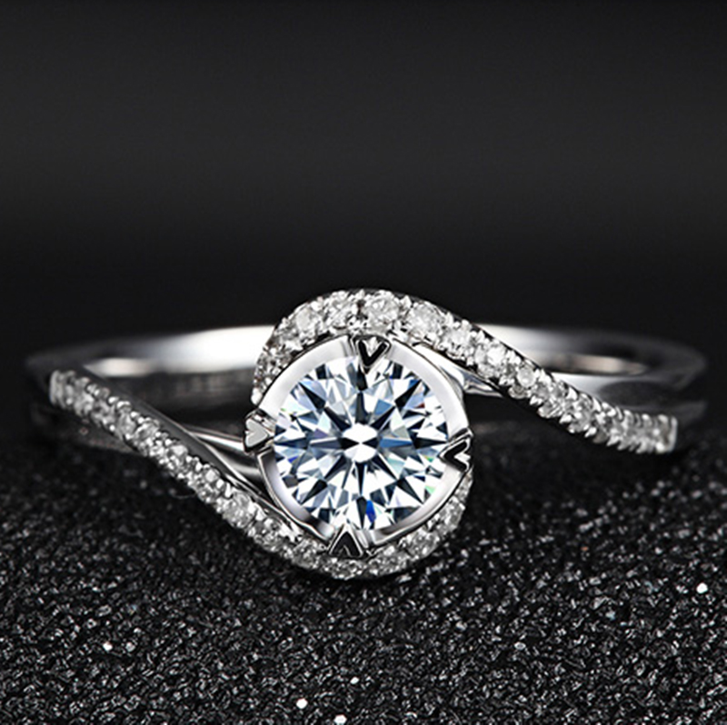 YINHED Elegant Solitaire Ring Genuine 925 Sterling Silver Wedding - Fashion Jewelry - Photo 2