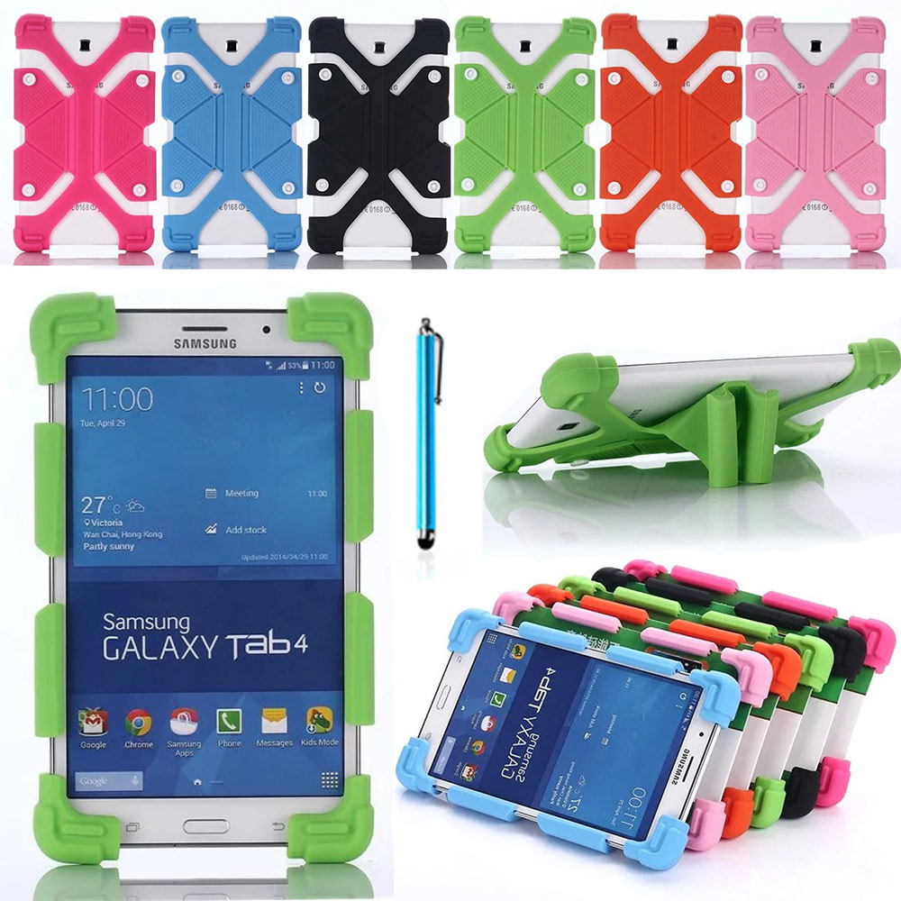 Universal Silicone Case For 7-8 Tablet PC Protective Cover Flexible Rubber Silicon Shell For Galaxy Tab A 7.0 SM-T280 T285 anti skid matte x line soft silicon rubber tpu gel cover protective case for samsung galaxy tab a 7 0 t280 sm t280 t280n t285