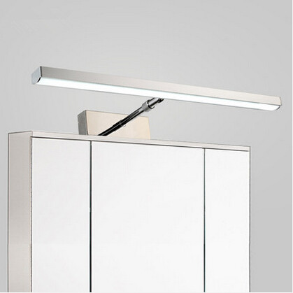Rotatable Flexible Modern LED Bathroom Mirror Light Stainless Steel Wall Lamp For Home Living Lights modern led bathroom light stainless steel led mirror lamp dresser cabinet waterproof sconce indoor home wall lighting fixtures