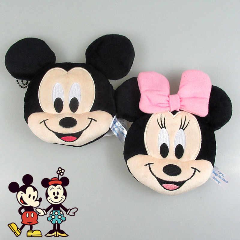 Novo 12 cm Mickey Minnie Brinquedos de Pelúcia para Crianças Coin Bolsas Bag Pingente Presentes Dos Miúdos