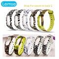 Lemse 2017 chegada nova pulseira de silicone strap para banda substituição para mi xiaomi miband 2 cinto banda 2