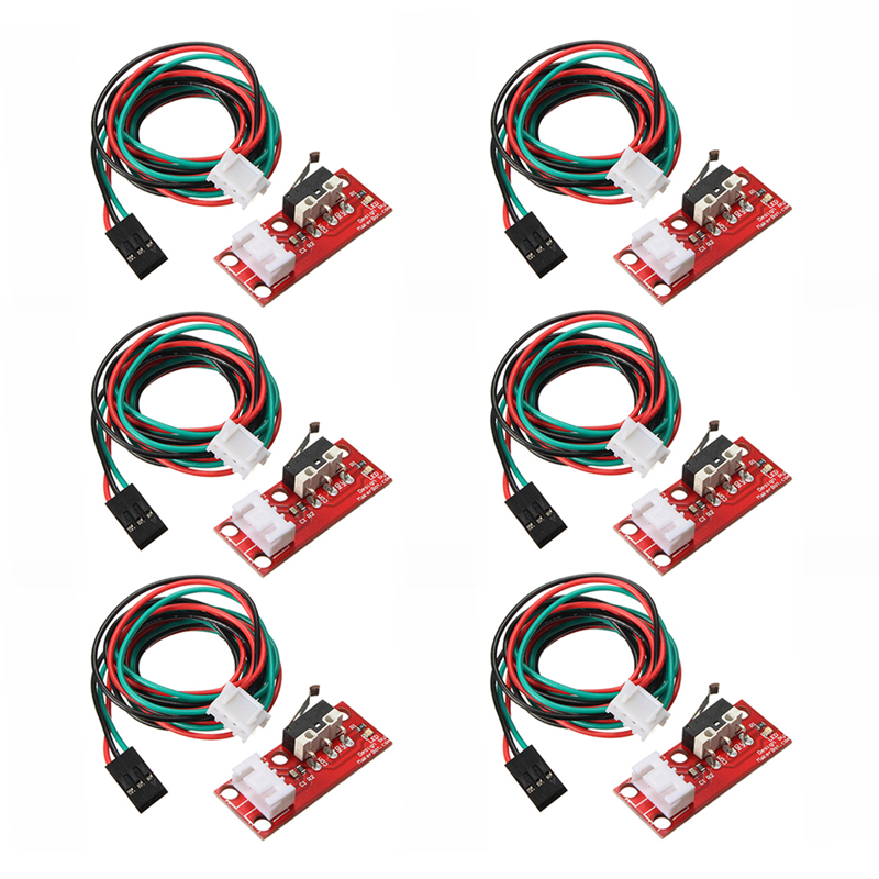 6pcs Endstop Limit Mechanical End Stop Switch W/ Cable for CNC 3D Printer RAMPS-in 3D Printer Parts & Accessories from Computer & Office