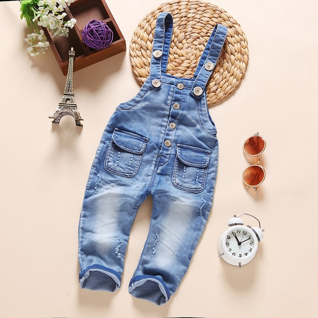 613bae1b1c35 9M-3T Baby Bib Overalls Spring Autumn Boys Girls Suspender Trousers Infant Pants  Denim Jumpsuit Jeans Rompers Toddler Clothing