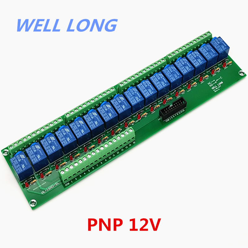 16 Channel PNP Type 12V 10A Power Relay Interface Module,SONGLE SRD 12VDC SL C Relay.