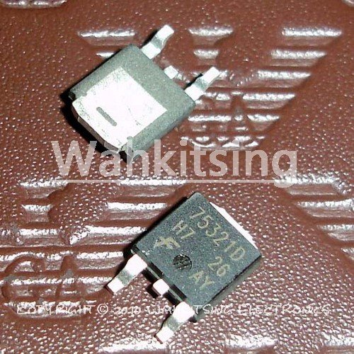 10PCS HUF75321D3S TO-252 HUF75321 75321D 20A 55V N-Channel UltraFET Power MOSFET