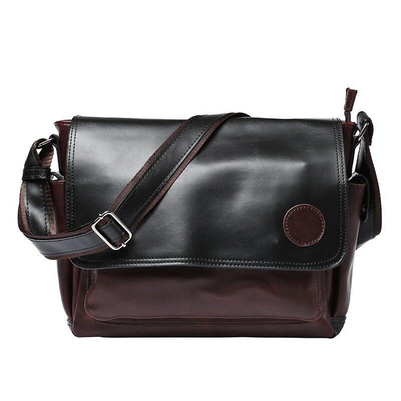 High Quality Fashion Men 39 s messenger bag Vintage Leather Waterproof Shoulder Bag