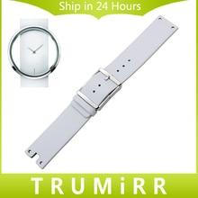 Véritable Bracelet En Cuir 22mm pour CK Calvin Klein K94231 Montre Bracelet Bande En Acier Inoxydable Fermoir Ceinture Bracelet Blanc noir