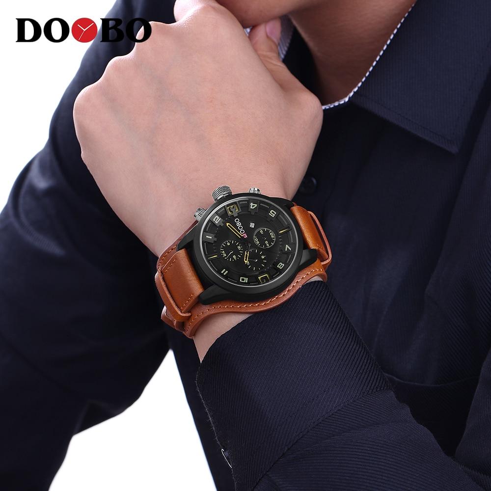 Heren Horloges Topmerk Luxe DOOBO Herenhorloge Lederen Band Mode - Herenhorloges - Foto 6