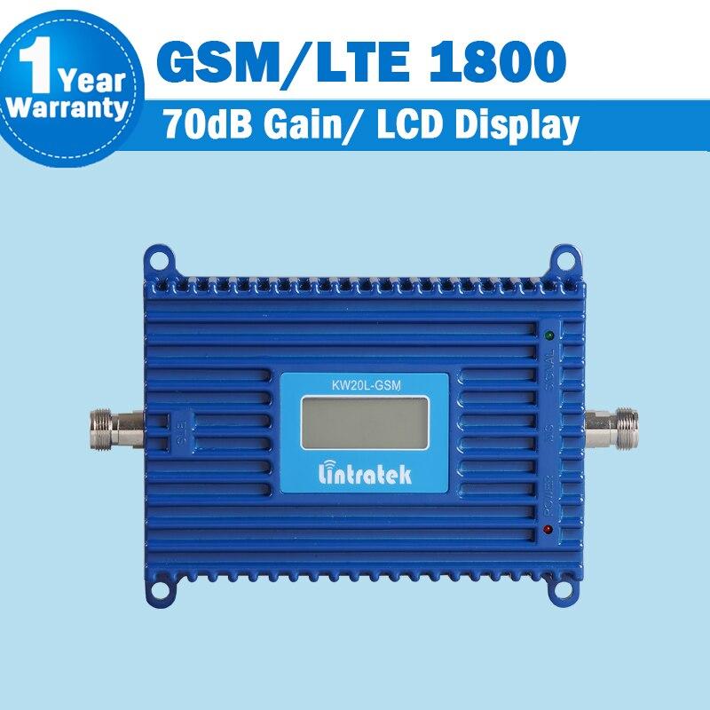 Pantalla LCD 70dB ganancia GSM 4G LTE 1800 MHz repetidor de la señal del teléfono celular DCS 1800 amplificador de teléfono móvil GSM cellular Booster Con función AGC y display LCD. amplificador de señal telefónica LTE