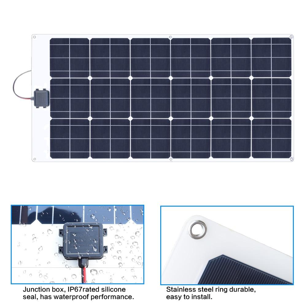 80W 18V Flexible solar panel 6