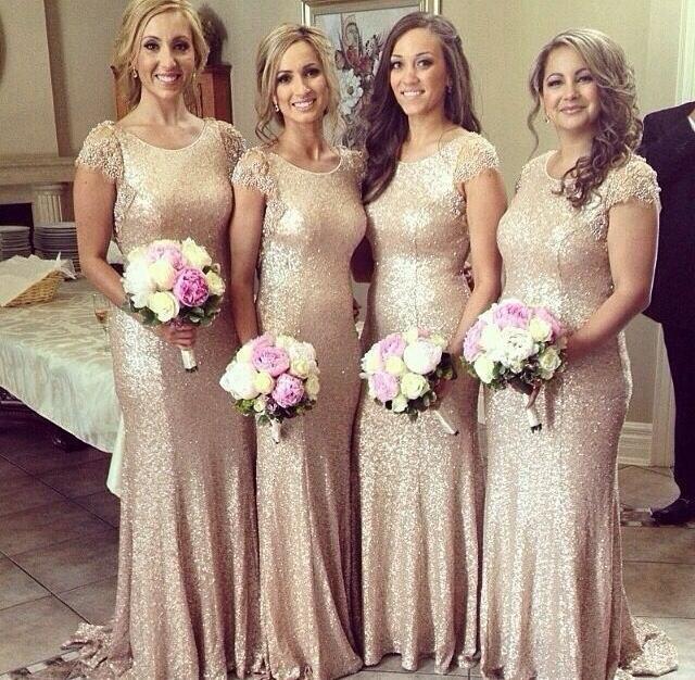 Элегантные платья для подружек невесты