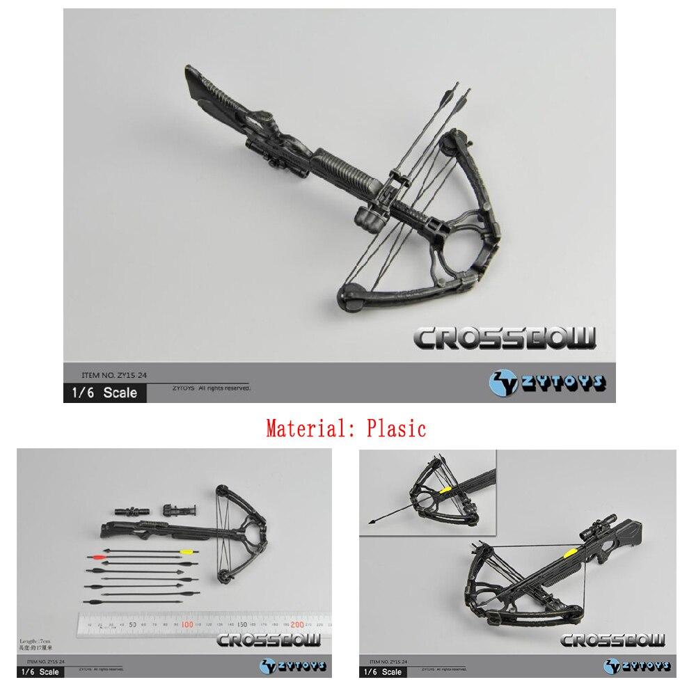 """ZY TOYS 1//6 Walking Dead Daryl Crossbow Arrow Weapon Model F 12/"""" Action Figure"""