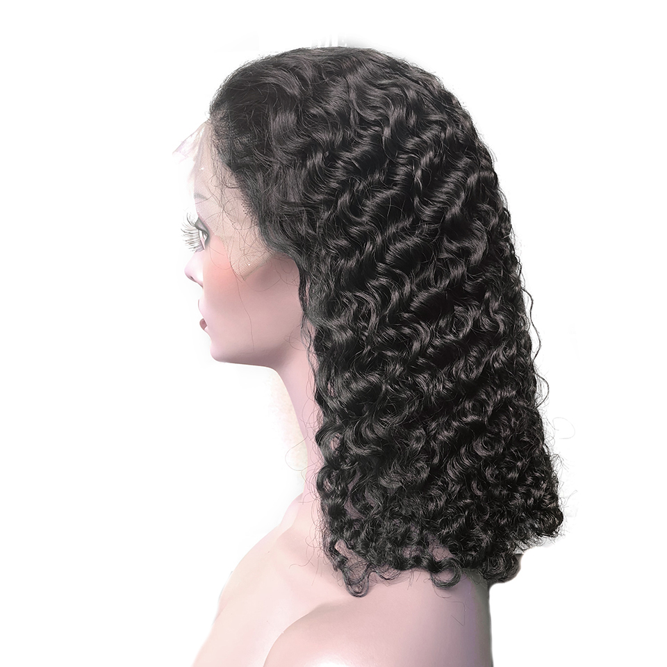HTB10.CNQpYqK1RjSZLeq6zXppXa7 Sunper Queen Lace Front Human Hair Wigs M With Baby Hair Brazilian Remy Hair Short Curly Bob Wigs For Women Pre-Plucked Wig