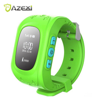 Hot selling Azexi Q50 SmartWatch GPB LBS anti-verloren Call SOS Bluetooth Android Kids Smart Horloge Voor Samsung S4 S5 Note 3 iPhone