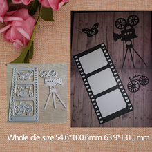 2019 New Film Camera  Metal Cutting Dies Stencil Scrapbooking Embossing For Paper Card DIY Crafts Tools