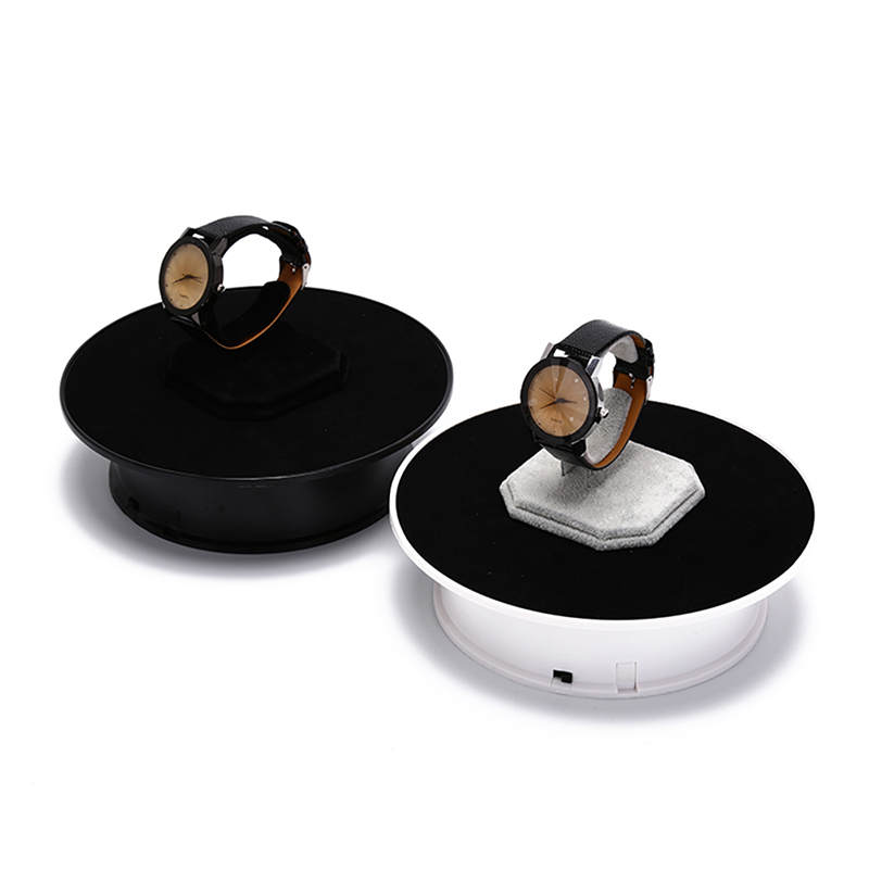 360 Degree Rotating Turntable Jewelry Display Stand For Photography Video Shooting Props Turntable Battery(no battery) black 25cm led photo 360 degree electric rotating turntable rotating display stand for photography jewelry watch digital product