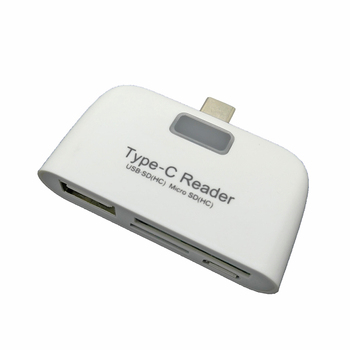 3 in 1 Micro SD OTG Card Reader Type C Micro USB Multi-function Memory Card Reader Adapter For Macbook Phone