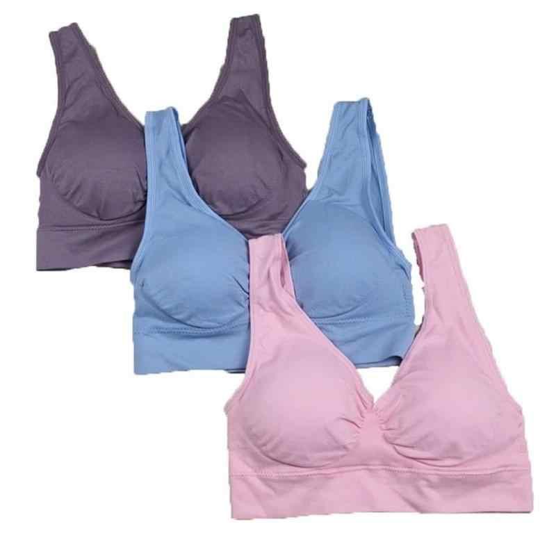 037d71c97d Detail Feedback Questions about Women Sport Yoga Bras genie bra With Pads  Seamless push up bra wireless Bra 3pc set plus size XXXL on Aliexpress.com  ...