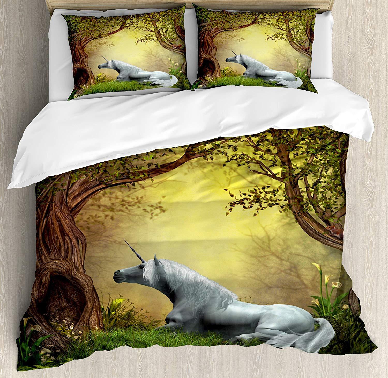 Aliexpress.com : Buy Unicorn Duvet Cover Set, Enchanted
