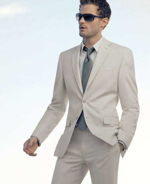 Aliexpress.com : Buy Custom Spring Beige Men Suits Blazer Wedding ...
