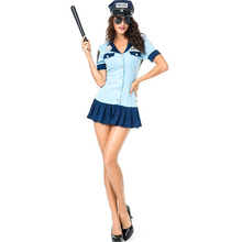 Sexy Police Woman Costume Halloween Adult Cosplay Clothing