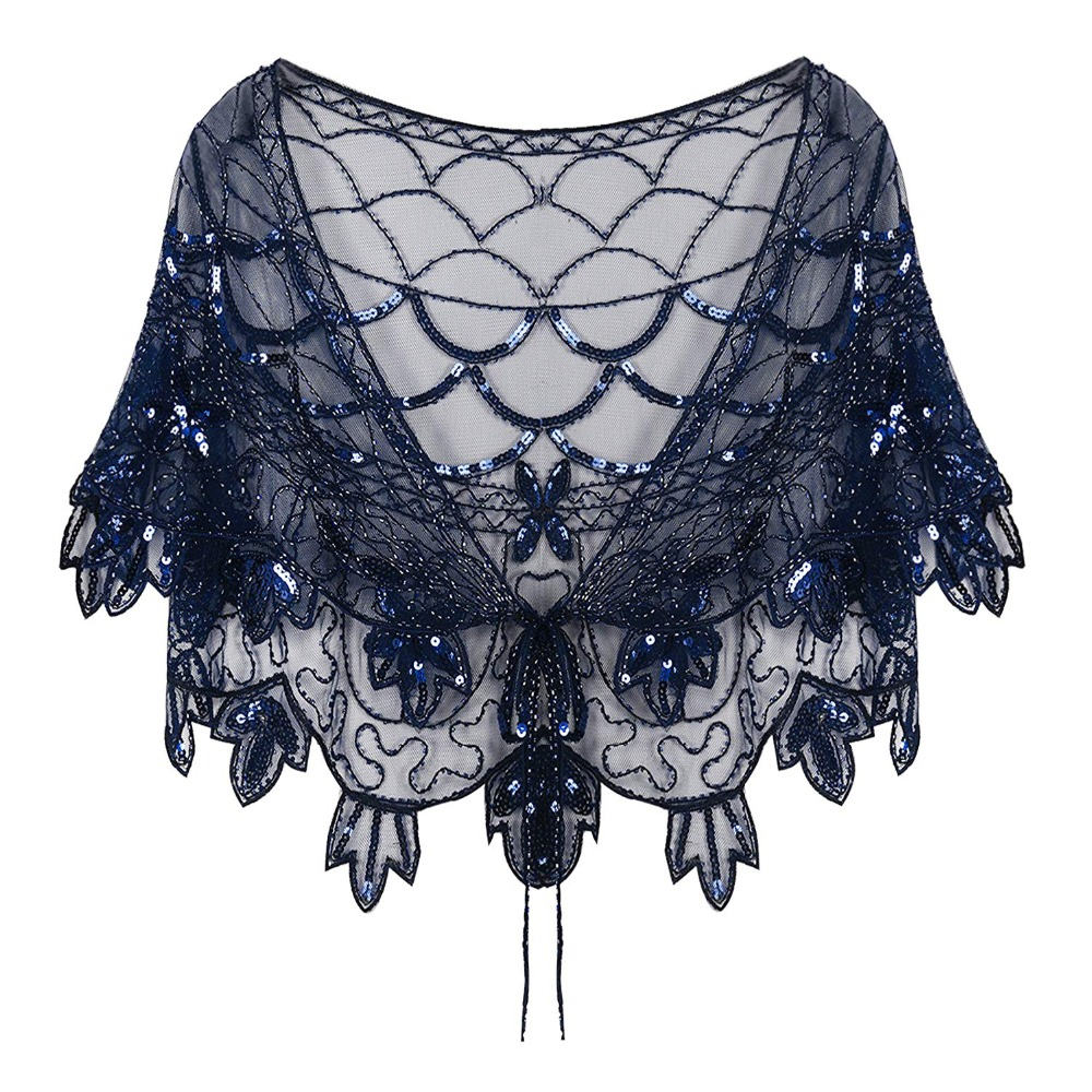 Vintage-1920s-Flapper-Shawl -blue