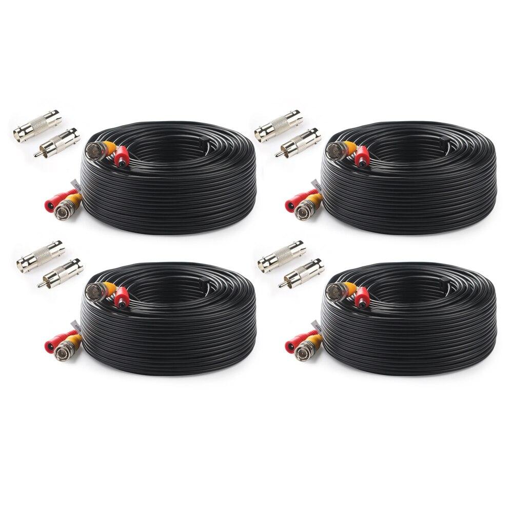 Тонтон BNC CCTV кабель (4 Packed 100 футов 30 м) видео кабель безопасности DC камера видеонаблюдения коаксиальный кабель видеонаблюдения DVR системы аксессуары-in Коробки передач и кабели from Безопасность и защита