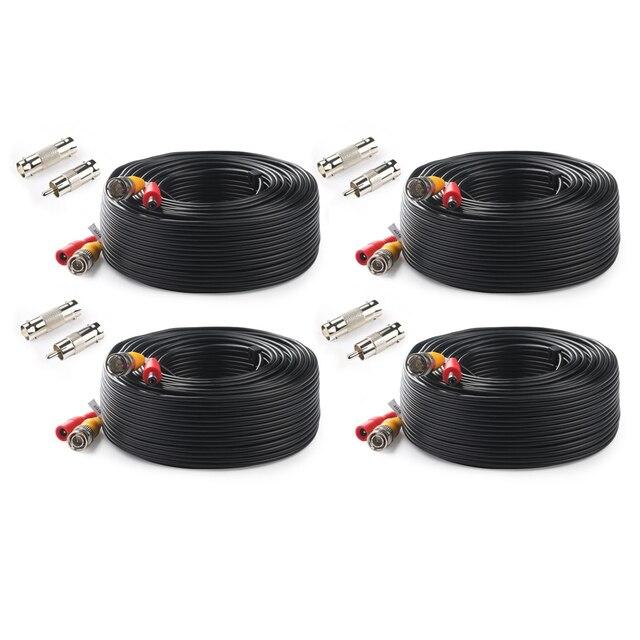 Тонтон BNC CCTV кабель (4 Packed 100 футов 30 м) видео кабель безопасности DC камера видеонаблюдения коаксиальный кабель видеонаблюдения DVR системы аксессуары
