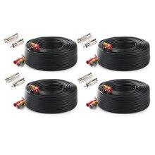 Tonton 4-Packed 100FT 30 м Высокое качество BNC видео кабель безопасности CCTV камера DC коаксиальный кабель наблюдения DVR системы интимные аксессуары