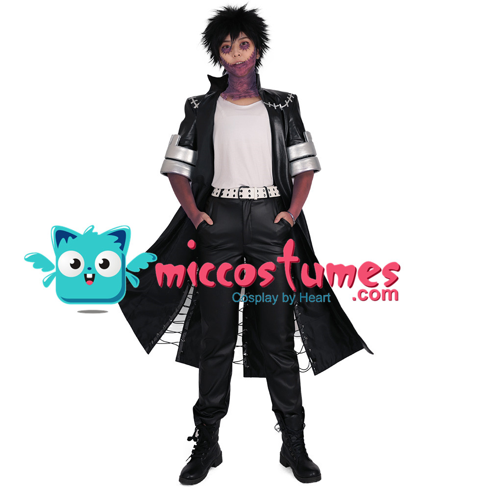 My Hero Academia Dabi Cosplay Costume Men Black Coat Outfits