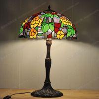 18 дюймов Американский Европейский Стиль Свадебные цветы настольная лампа Тиффани стекло Tianyuan Yi дома светильники Спальня guesthouse