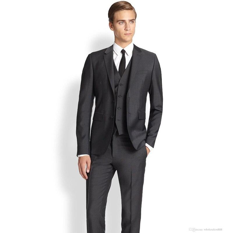 Personnalisé marié robe deux boutons gap revers groommens costumes 2017 costume homme homme robe de mariée occasions commerciales hommes costume