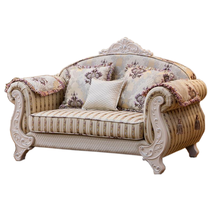 Luxury European Style Wooden Fabric Sofa Set Living Room Furniture China Sofa 1+2+3 image