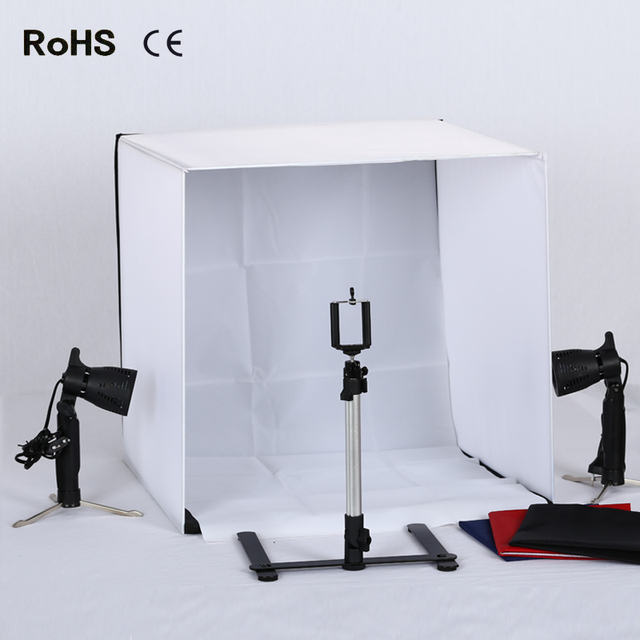 Portable 50cm*50cm/20inch*20inch Camera Photo Studio Tent Kit Lighting Tripod Soft & Portable 50cm*50cm/20inch*20inch Camera Photo Studio Tent Kit ...