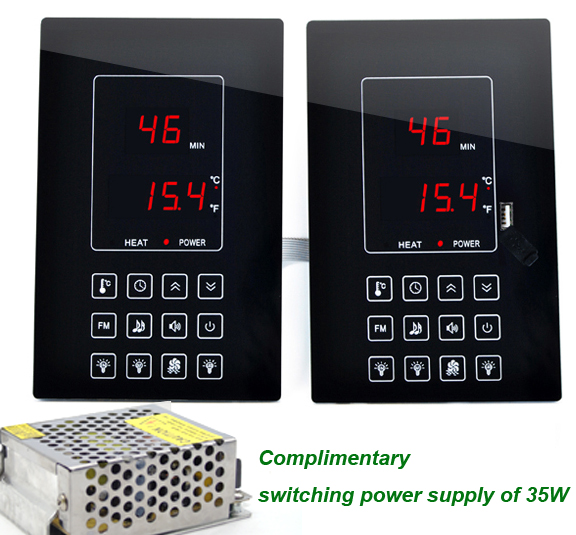 LED Infrared Steam Sauna Room System Control with 30A Relay parallel outputs