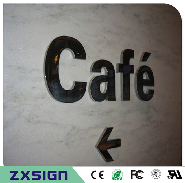 factory outlet outdoor metal letters for shop name