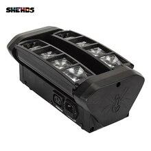 SHEHDS Snelle verzending 8 Ogen Mini LED Beam 8x6W Spider RGBW DMX Professionele Verlichting Podium disco Party DJ