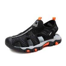 SKHEK Summer Kids Shoes Brand Closed Toe Air Mesh Boys Sandals Non-slip Wear Resistant Children Boy Beach