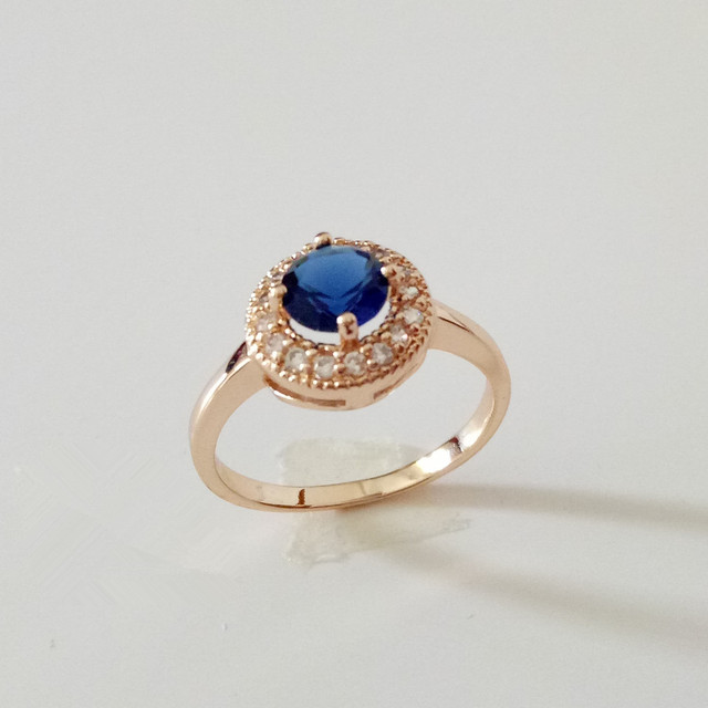 Luxury Wedding Jewelry Women Rings Trendy Rose Gold Colorjewellery Round Shape Engagement Ring Designs For
