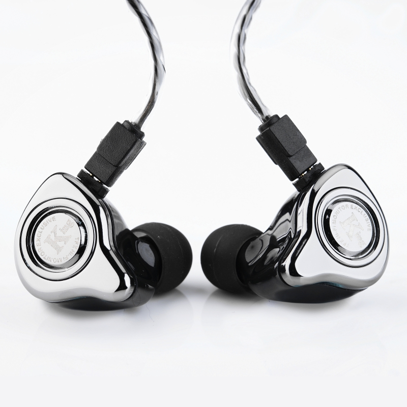 Le Parfumé Cithare TFZ EXCLUSIVE ROI 3.5mm Dans L'oreille Écouteur Nano Graphène Pilote Métal HIFI Écouteur Détachable 2Pin Câble