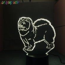 Chow Dog Baby Night Light Usb Touch Sensor 7 Colors Changing Child Bedroom Nightlight Songshi Quan Table Lamp