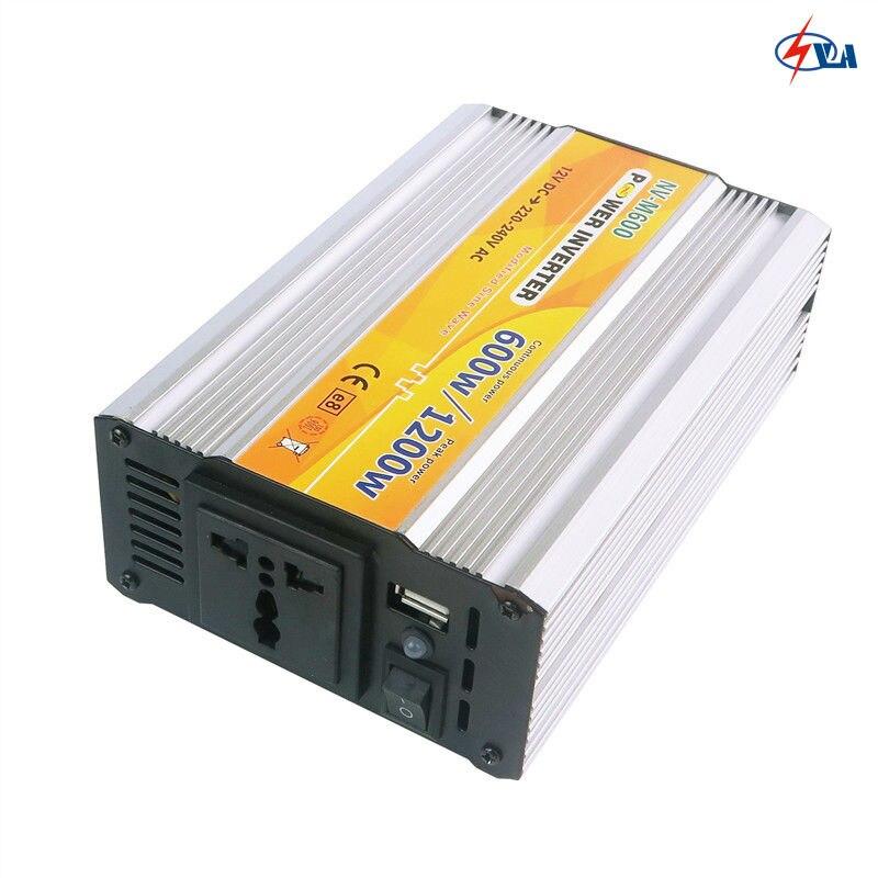ФОТО NV-M600 DC/AC Car Power Modified Sine Wave Inverter Inversor Onda Modificada Solar Inverter Without Battery 12V/24V TO 220V