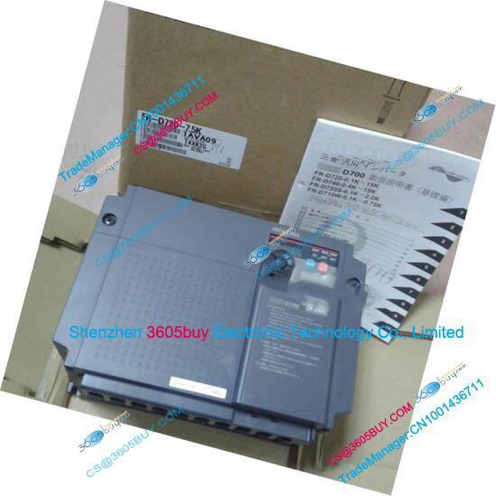 Three phase inverter FR-D720-7.5K 200~240V 31.8A 7.5KW 0.2~400Hz with keypad New Original