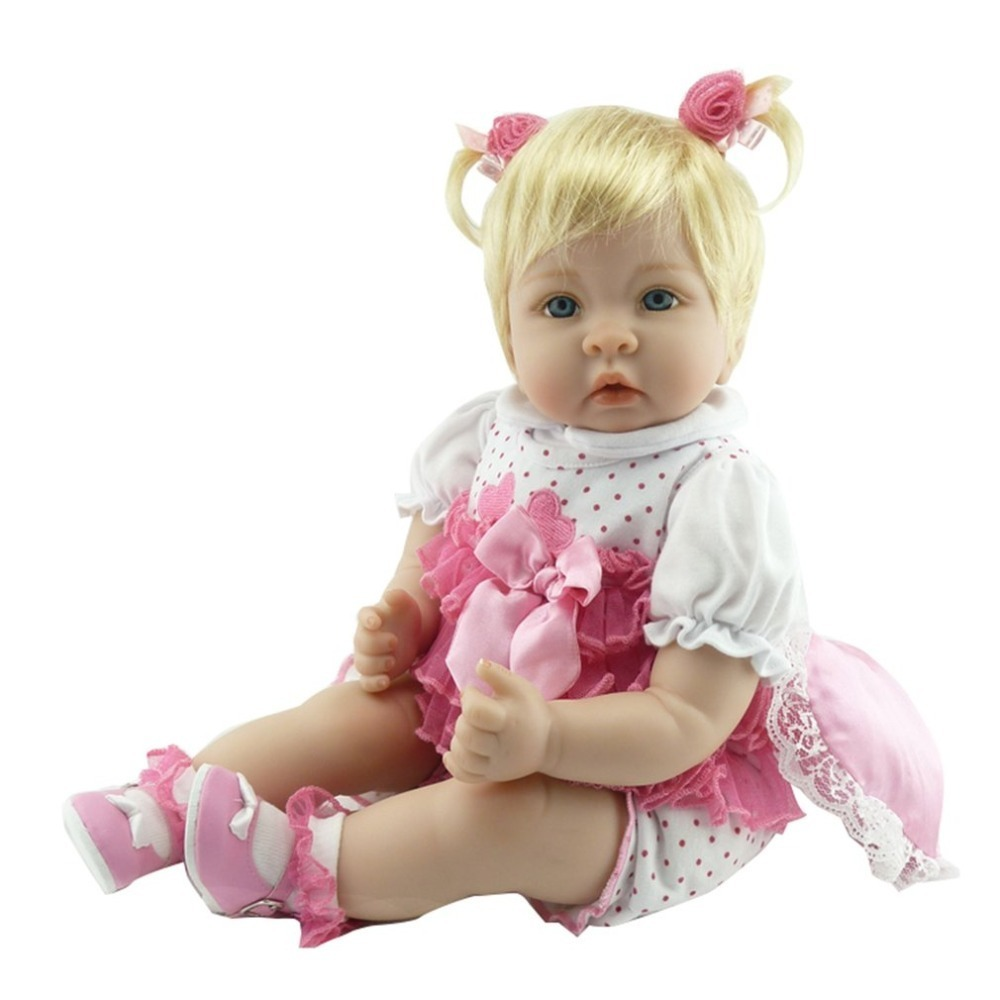 Здесь продается  OCDAY 55cm Reborn Baby Doll Realistic Soft silicone Reborn Babies Girl Playmate Adorable Brinquedos boneca for Birthday Gift  Игрушки и Хобби
