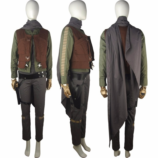 Rogue One: A Star Wars Story Jyn Erso cosplay halloween costume unique sci-fi outfit valentine's day x'mas gift for women girls