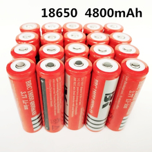 18650 Battery rechargeable lithium battery 4800mAh 3.7V Li-ion battery for flashlight Torch 18650 Batteries  GTL EvreFire стоимость