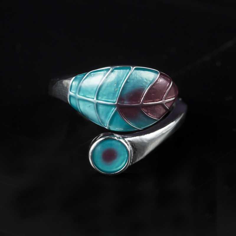 น่ารักหญิงแหวนแฟชั่นเงิน Rose Gold แหวนผู้หญิง Boho สีฟ้าสีขาวสีเขียวแหวนโอปอลไฟ