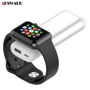 Banco de la energía 5200 Mah de carga inalámbrica portátil banco de energía para reloj de Apple 4 3 2 1 paquete de Batería Externa de cargador para teléfonos inteligentes