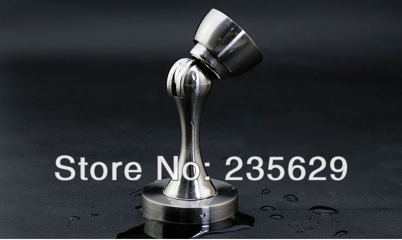 Free Shipping, brushed stainless steel Door Stopper,suitable for interior doors, Door Holders For Sale, High suction, Zinc Alloy free shipping wall mounted brass door stopper suitable for interior doors door holders for sale high suction 356g
